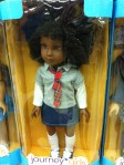 This was one of the more positively portrayed dolls I saw...but she's still wearing a mini skirt. Dammit!