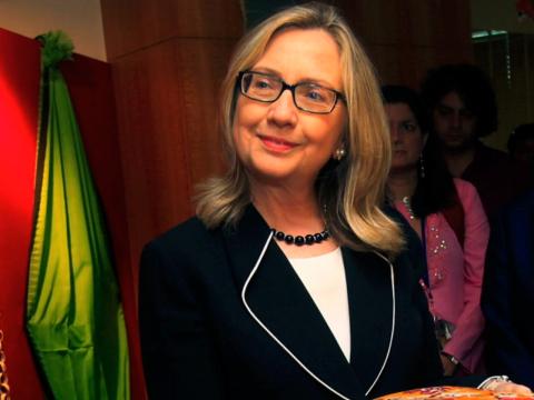 Clinton's natural look